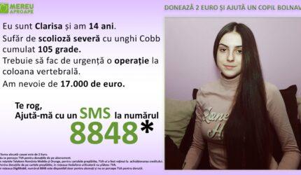 Clarisa are 14 ani, iar bolile ei îi pot lua viața în orce clipă. Are nevoie urgentă de operație