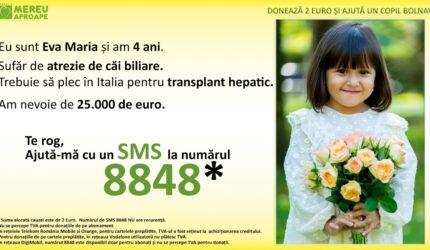 Eva Maria are nevoie de un transplant hepatic. Îi putem oferi un nou început